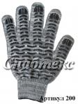 Перчатки пвх-волна Березка 10 класс 5-нитка, код 200