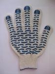 Перчатки с ПВХ - волна люкс 10класс, 5-нит, код 229