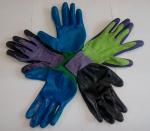 Перчатки нейлон обливные-люкс, код 195