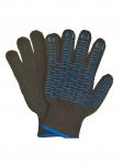 Перчатки с ПВХ - волна 6 - нитка черные ЛЮКС  6,7нит/7,5кл, код