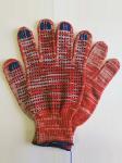 Перчатки с ПВХ красные код 128